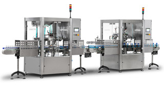 The OPTIMA FM1 filling machine and the OPTIMA CM1 sealing machine