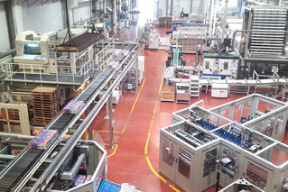 A birds eye view shows the complexity of the Violeta production line.