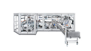 Projects with paper packaging are possible with the OPTIMA OSR packaging machine.