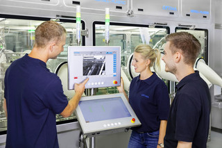 Monitoring machine interior cameras (outside)