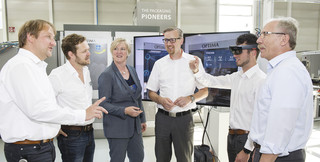 Virtual and mixed reality impress the round - table participants at Optima.  The first applications are here—and the future looks promising.